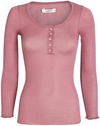 Etoile Isabel Marant Lamylic Rib Knit Cotton Henley