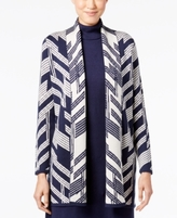 Alfani Petite Patterned Open-Front Cardigan, Created for Macy's