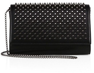 Christian Louboutin Paloma Spiked Leather Clutch