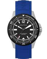 Nautica Men's 'MAUI' Quartz Stainless Steel and Silicone Casual Watch