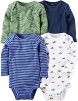 Carter's Baby Boys' 5-Pack L/S Bodysuits