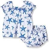 Hatley Baby Girls 0-24m Infant Ruffle Bloomer Star Fish Clothing Set