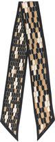 Bulgari gold-tone print skinny scarf