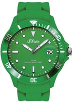 S'Oliver SO-2682-PQ - Men's Watch, Silicon, Green Color