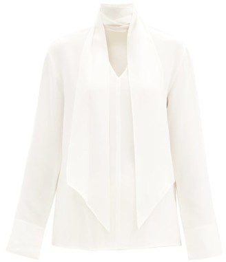 Joseph Bethan Pussy-bow Silk-georgette Blouse - Ivory