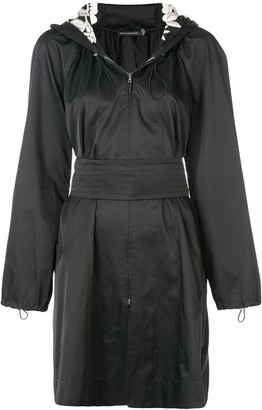 Josie Natori hooded embroidered anorak