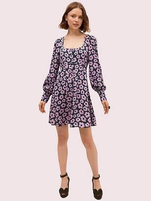 Kate Spade Flair Flora Fluid Mini Dress