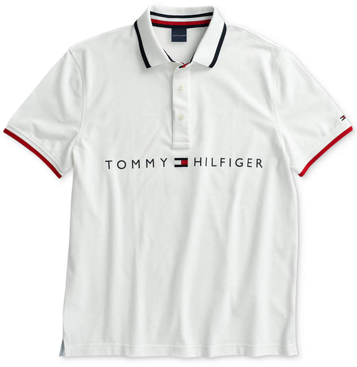 059ed23f Tommy Hilfiger White Men's Polos - ShopStyle