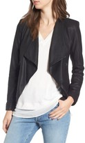 BB Dakota Women's Brycen Leather Drape Front Jacket