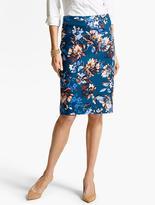 Talbots Edgemont Floral Pencil Skirt