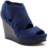 Eileen Fisher Draw Suede Wedge Sandal