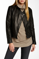 Cole Haan Front Zip Genuine Leather Jacket