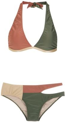 Adriana Degreas Cut Out Velvet Bikini Set