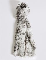 Marks and Spencer Rose Print Scarf