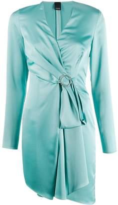Pinko wrap style bow dress