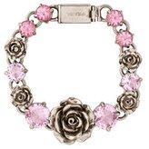 Prada Crystal & Flower Link Bracelet