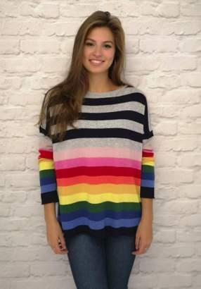 Luella Cashmere Blend Rainbow Stripe Sweater - one size