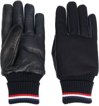 Moncler Logo Patch Panelled Gloves