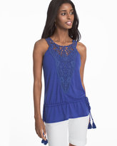 White House Black Market Sleeveless Crochet Lace Top