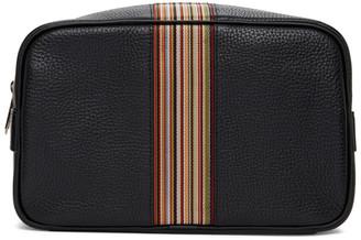 Paul Smith Black Signature Stripe Wash Bag