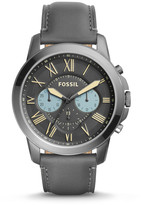 Fossil Grant Chronograph Gray Leather Watch