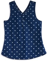 Splendid Girls' Printed Denim Cross Back Tank - Big Kid
