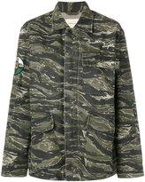 Current/Elliott camouflage patch jacket - women - Cotton/Linen/Flax - S