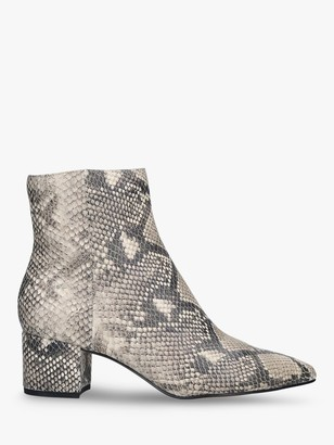 Dolce Vita Bel Snakeskin Print Ankle Boots, Multi