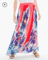 Chico's Petite Tropical Floral Maxi Skirt