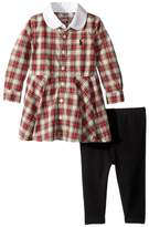 Ralph Lauren Plaid Shirtdress & Leggings Set (Infant)