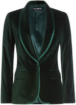 Dolce & Gabbana Velvet Blazer with Silk Trim