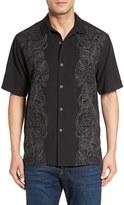 Tommy Bahama Men's Big & Tall 'Verdara Vines' Original Fit Embroidered Silk & Cotton Camp Shirt