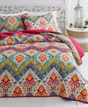Vera Wang Azalea Skye Moroccan Nights Quilt Set, Full/Queen Bedding