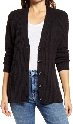 Caslon Textured V-Neck Cardigan