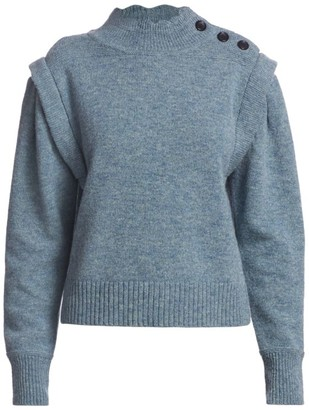 Etoile Isabel Marant Meery Long Puff-Sleeve Pullover