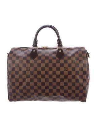 Louis Vuitton Damier Ebene Speedy Bandouliere 35 Brown