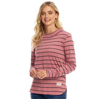 Board Angels Womens Boat Neck Top Slate Rose/Navy