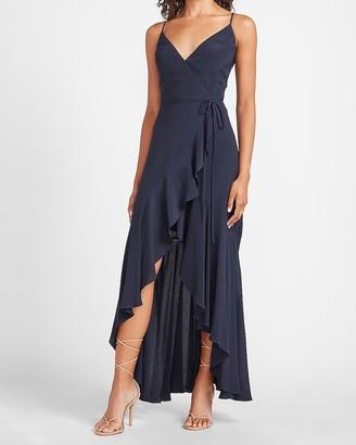 Express Ruffle Wrap Maxi Dress