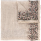 Faliero Sarti floral embroidered scarf