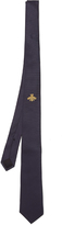 Gucci Bee-embroidered silk-blend tie