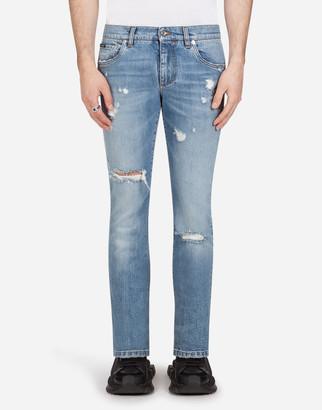 Dolce & Gabbana Stretch Skinny Jeans With Patch