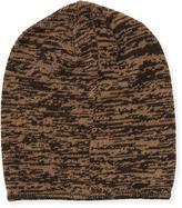 Portolano Marled Knit Beanie Hat, Dark Brown/Hazlenut