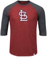 Majestic Men's Big & Tall St. Louis Cardinals Grueling Raglan T-Shirt