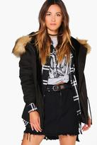 Boohoo Boutique Alice Faux Fur Lined Hooded Parka