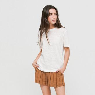 Samsoe & Samsoe Clear Cream Agnes 6680 t-shirt - S - Natural/White