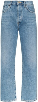 Gold Sign high-rise straight leg jeans