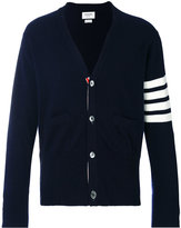 Thom Browne stripe detail cardigan - men - Cashmere - 1