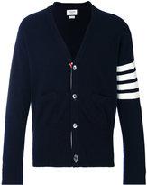 Thom Browne stripe detail cardigan - men - Cashmere - 2