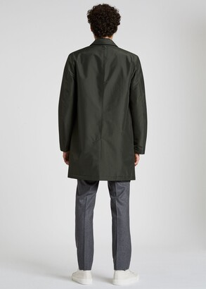 Paul Smith Men's Dark Green Recycled Polyester Wadded Mac