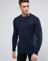 Brave Soul Colour Twist Jumper With Raglan Sleeve